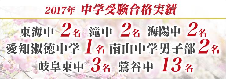 2017 中学 合格速報